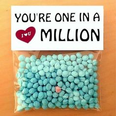 Valentines day card gifts for him or her one in a million boyfriend personalised