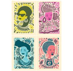 LIVING for the Crowns of Color posters by @Andrea Pippins. Andrea is so brilliant. $160.00, via Etsy.