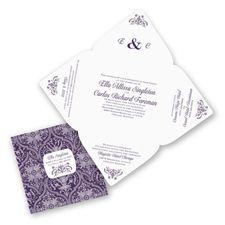Passionate Love - Plum - Seal and Send Invitation