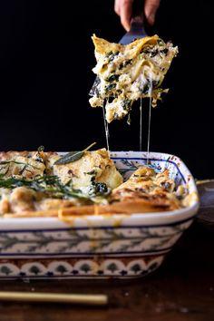 4 Cheese Sage Pesto Florentine Lasagna | halfbakedharvest.com