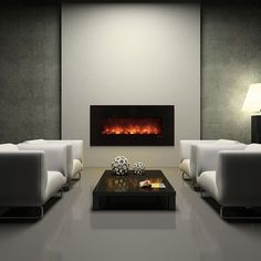 """Modern Flames 60"""" Ambiance Linear Deluxe Electric Fireplace #LearnShopEnjoy"""