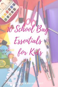 Back-to-school 10 School Bag Essentials for Kids - First Time Mommy Stylish School Bags, Cheap School Bags, Gentle Parenting, Kids And Parenting, Parenting Hacks, The School Run, Back To School, Chores For Kids, Activities For Kids