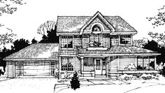Country House Plan with 1685 Square Feet and 3 Bedrooms from Dream Home Source | House Plan Code DHSW73233