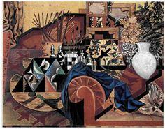 Νίκος Χατζηκυριάκος-Γκίκας (1906-1994), «Σύνθεση με ρυθμικά αντικείμενα», 1935, 0,81X1,00 μ., Μουσείο Μπενάκη - Πινακοθήκη Ν. Χατζηκυριάκου Γκίκα, Αθήνα.