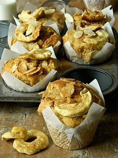 Apple, extra-virgin olive oil and ricotta muffins | Silvia's Cucina