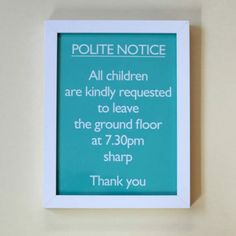 Catherine Colebrook Framed Prints  - Polite Notice Series