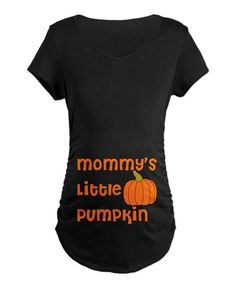 Look at this Black 'Mommy's Little Pumpkin' Graphic Maternity Tee on #zulily today!