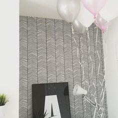 Great set-up with our ferm LIVING Herringbone Wallpaper… Mum Birthday, Birthday Celebration, Herringbone Wallpaper, Guest Bath, Scandinavian Design, Interior Ideas, Interior Architecture, Kids Room, Walls