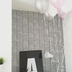 Great set-up with our ferm LIVING Herringbone Wallpaper!  http://www.fermliving.com/webshop/shop/herringbone-wallpaper.aspx