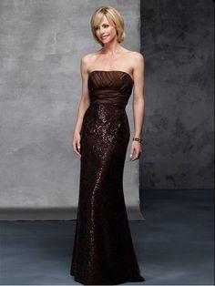 Wholesale Cheap Glamorous Petite Sheath Strapless Luxury Long Mother Of Bride Dress