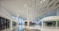 Image 12 of 12 from gallery of Zhengzhou Xinzheng International Airport Terminal 2 / CNADRI. Courtesy of CNADRI Church Interior Design, Airport Design, Mall Design, Zhengzhou, International Airport, Urban Design, Canopy, Around The Worlds, Architecture