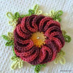 Flor anelada - Passo a passo - Croche.com.br