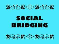 Buzzword Bingo: Social bridging = People making connections with others who have different backgrounds Buzzword Bingo, Making Connections, Make Up Your Mind, Quote Backgrounds, Use Case, Free Training, Search Engine Optimization, Content Marketing, Ecommerce