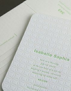 """Quilted Blanket"" letterpress birth announcement by Elum Designs. Customize yours with Paper Passionista."