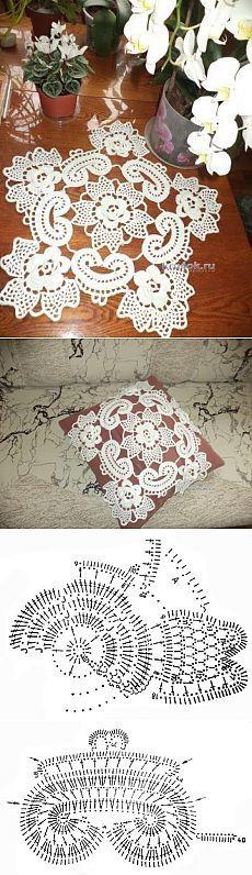 Салфетка в технике ирландского кружева — работа Маргариты - вязание крючком на kru4ok.ru