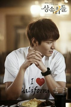 "Lee Min Ho ~ Heirs-I love the way he's looking at her. Apparently people on the set started to question whether lee min ho and park shin hye were actually dating-his response was ""that means that I'm doing my job right"" love Park Shin Hye, Lee Jong Suk, Heirs Korean Drama, The Heirs, Korean Dramas, Jung So Min, Minho, Jun Matsumoto, City ​​hunter"