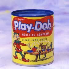 Play-Doh, many hours spent at the kitchen table with my father