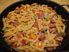 Christine's Pantry: Penne with Sausage and Peppers