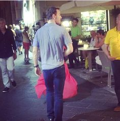 Michael Fassbender was spotted in Taormina, Sicily, yesterday. It's possible that he is in Italy to attend the Venice Film Festival, which begins in a few days. A short film titled Zero, which he produced with Ridley Scott, is screening at the festival. Additionally, Alicia Vikander's film, The Danish Girl, is having its world premiere at the festival.  Sep 17th, 2015.