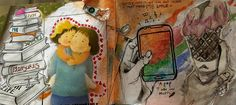 Altered Book #4 - FREE CHOICE - NGHS Room 406 - Debi West's WOW Students!