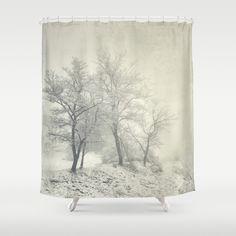 Into the fog. Retro Shower Curtain