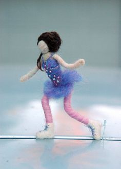 Hey, I found this really awesome Etsy listing at https://www.etsy.com/listing/180899061/needle-felted-doll-figure-skater-ice