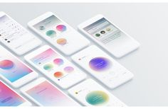 Breeze - Voice only SNS on Behance Company Brochure Design, Graphic Design Brochure, Brochure Inspiration, App Design Inspiration, Red Dot Design, One Design, Magazine Ideas, Information Visualization, User Interface Design