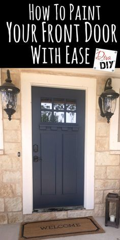 Painting your front door is one of the easiest ways to boost your curb appeal! Using the right products and picking the right door color is important! #ad
