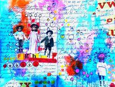 couleurs et mixed media: Art-Journal 2015 - thème 16 - La cour de récréation