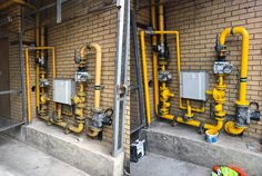 Recent Work - Painting & Decorating - Mains Gas Pipes
