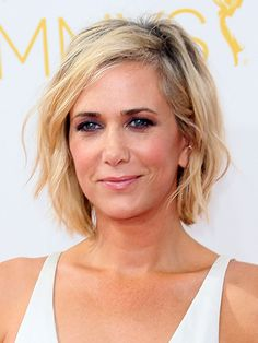 "Kristen Wiig's choppy bob | ""This length is fearless and bold and sexy,"" says Matt Fugate, a hairstylist at the Sally Hershberger Downtown salon in New York City. We couldn't agree more—and that's exactly why your 40s are the perfect time to wear it."