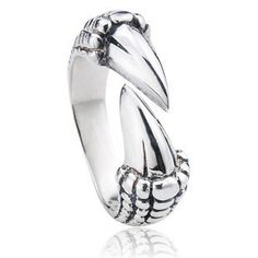 925 Sterling Silver Punk Gothic Claw Antique Open Ring Gift for Men - Zivpin