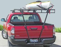 Bumper-mounted V-truck rack can mount under a trailer ball hitch