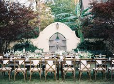 Beautiful backyard rehearsal dinner