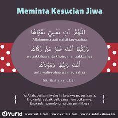Meminta kesucian jiwa Doa Islam, Islam Muslim, Islam Quran, Islamic Love Quotes, Islamic Inspirational Quotes, Muslim Quotes, Reminder Quotes, Self Reminder, Just Pray