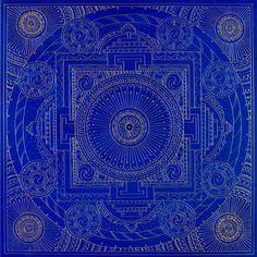 Deep Blue Temple Mandala