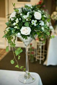 Wedding flowers 50th Wedding Anniversary Decorations, Reception Table Decorations, Tall Wedding Centerpieces, Bridal Shower Centerpieces, Floral Centerpieces, Flower Decorations, Floral Arrangements, Wedding Decorations, Wedding Table Centres