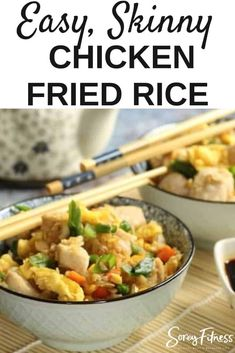 Cauliflower Chicken Fried Rice Whole 30 Recipe (Better Than Takeout!) #whole30dinner