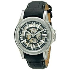 Bulova Mens 63A000 Analog Display Automatic Watch Black *** Click image for more details. (This is an affiliate link and I receive a commission for the sales)