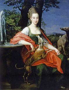 Portrait of unknown lady as Diana, 1776 by Pompeo Batoni