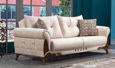 Lena Kanepe - Yıldız Mobilya Couch Design, Living Room Sofa Design, Bed Furniture, Luxury Furniture, Furniture Design, Modern Sofa Designs, Dining Room Buffet, Beautiful Sofas, Foyer Design