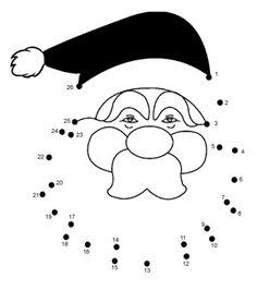 Free Online Printable Kids Games - Father Christmas Dot To Dot