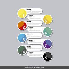 Infografia opções em estilo moderno Vetor grátis