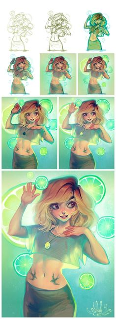 Art by Lois Van Baarle a.k.a. Loish* • Blog/Website | (www.loish.net) • Online Store | (http://www.inprnt.com/gallery/loish) • (http://www.society6.com/loish) ★ || CHARACTER DESIGN REFERENCES™ (https://www.facebook.com/CharacterDesignReferences & https://
