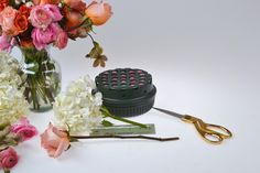 Step 1 using the Flowers by Number DIY flower arranging starter kit. #DIYflowerarranging