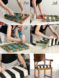 Re-Cover-A-Drop-Seat-Steps craft & diy diy furniture, diy и