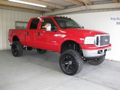 lifted red ford f250 | 2006 Ford F250 Super Duty Crew Cab XLT FX4 Short Bed 4x4 ~ Powerstroke ...