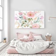 Rolled (Un-stretched) Canvas Keira Garden Watercolor Canvas Wall Art Canvas Giclee Senay Studio Abstract Floral High quality archival print Watercolor Canvas, Floral Watercolor, Watercolour Paintings, Stretched Canvas Prints, Canvas Wall Art, Canvas Canvas, Fine Art Prints, Room Decor, Home