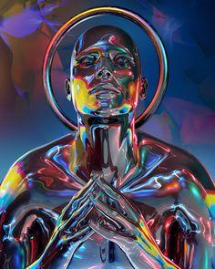 Graphic Design Posters, Graphic Art, Willian Smith, Arte Cyberpunk, Futuristic Art, Glitch Art, Fantastic Art, Psychedelic Art, Aesthetic Art