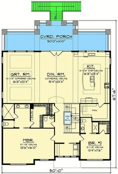 Craftsman House Plan for a View Lot - 890067AH | Architectural Designs - House Plans